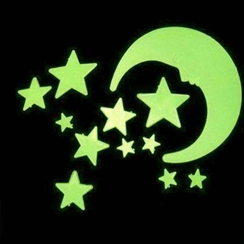 Imagem de Estrelas Que Brilham No Escuro Kit Lua Planetas 100 Un Decorar