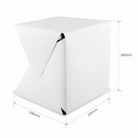 Imagem de Estudio fotografico fotografia para ecommerce com iluminação led mini portatil completo tenda fotogr