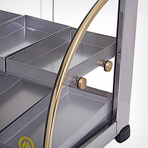 Imagem de Estufa para Salgados Curva Dupla Ouro - 10 bandejas - EF.2.211/212 - Selo Inmetro - Marchesoni
