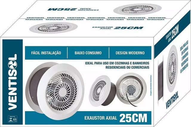 Imagem de Exaustor 250mm ( 25cm ) Cozinha-Banheiro-Residencia Ventisol