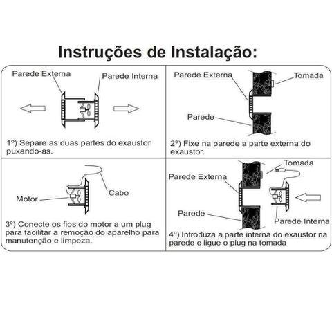 Imagem de Exaustor para cozinha ou banheiro ventisol 25cm