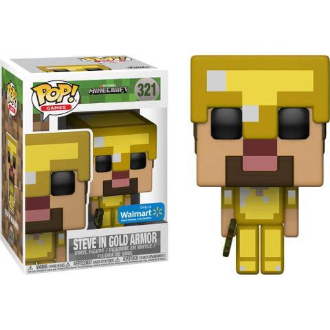 Imagem de Exclusivo - Steve In Gold Armor 321 - Minecraft - Funko Pop