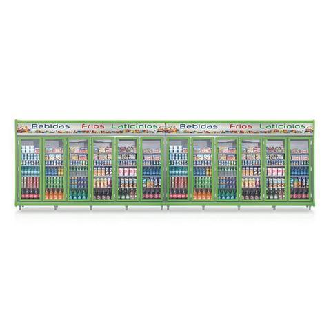 Geladeira/refrigerador 5284 Litros 12 Portas Verde - Gelopar - 220v - Gevt-12p