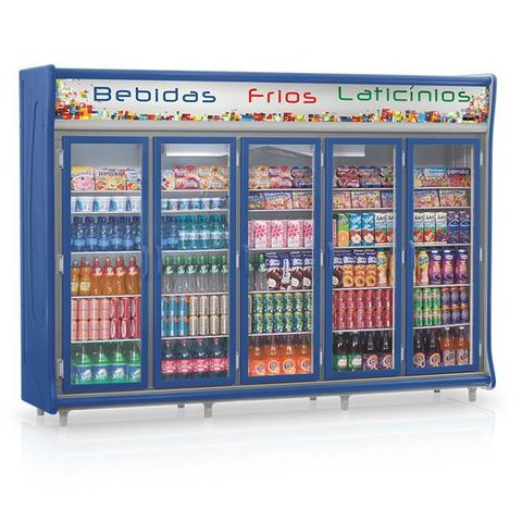 Geladeira/refrigerador 2212 Litros 5 Portas Azul - Gelopar - 110v - Gevp-5p
