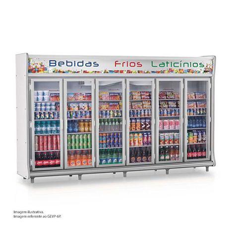 Geladeira/refrigerador 4424 Litros 6 Portas Cinza - Gelopar - 110v - Gevp-10p