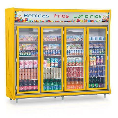 Geladeira/refrigerador 1783 Litros 4 Portas Amarelo - Gelopar - 110v - Gevt-4p