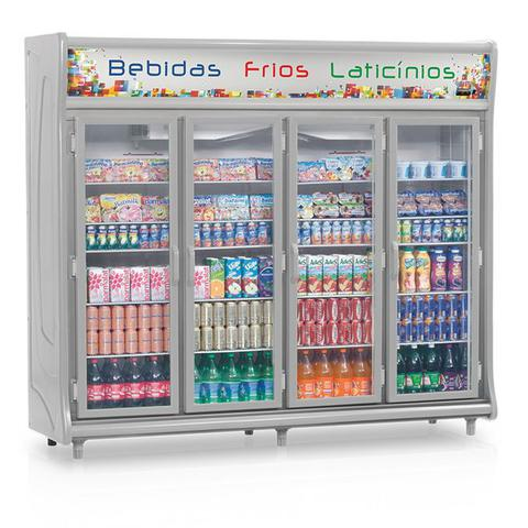Geladeira/refrigerador 1783 Litros 4 Portas Cinza - Gelopar - 110v - Gevt-4p