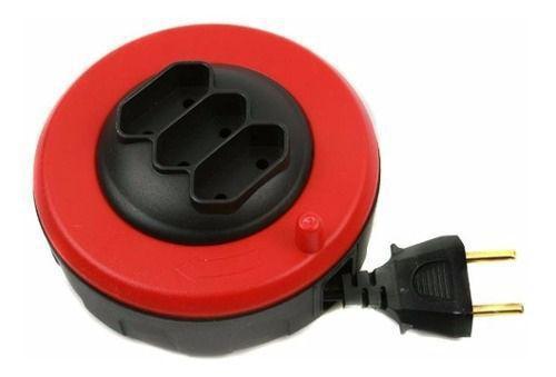 Imagem de Extensão Elétrica Retrátil Daneva Pop Spin 5 Metros 3 Tomada