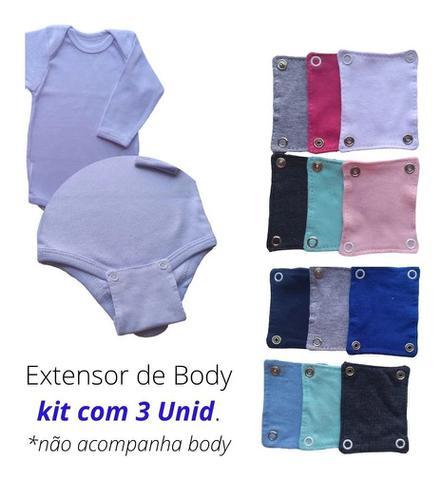 Imagem de Extensor de Body Bebê Kit com 3 Unidades