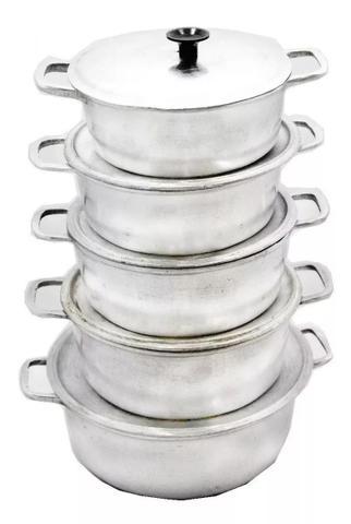 Imagem de Fabrica De Jogo De Panelas Em Aluminio Fundido 5 Peças