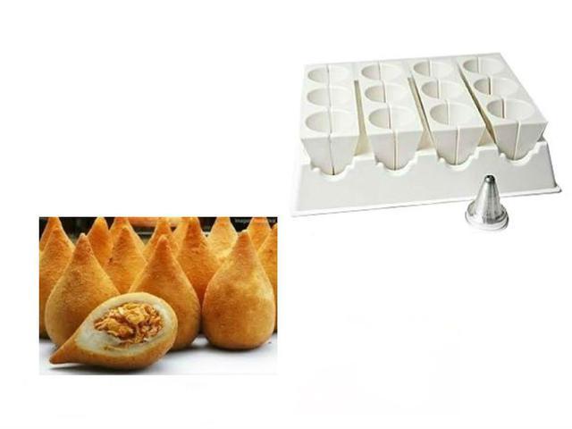 Imagem de Fábrica Molde Formas Bolinha Queijo + Coxinhas Mini + Grande