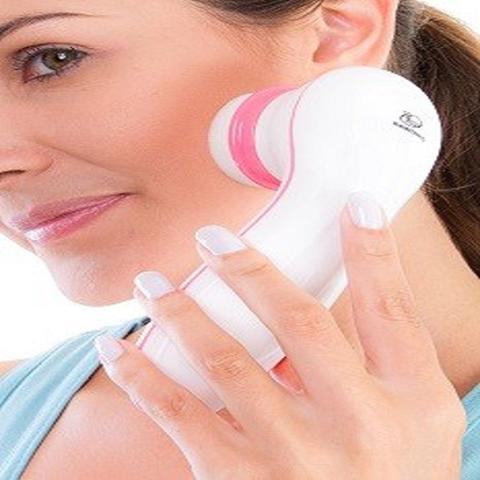 Imagem de Facial Clean com 3 Acessórios Relaxbeauty Branco com Rosa