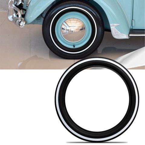 Imagem de Faixa Banda Branca para Pneu Aro 13 14 15 16 Universal Vw Fusca com Filete Branca Aro 13