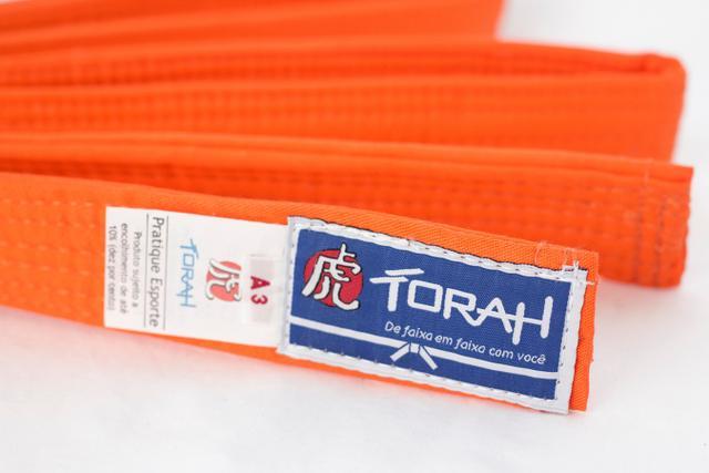 Imagem de Faixa Torah Plus Para Kimonos - Artes Marciais - Adulto A3 Laranja