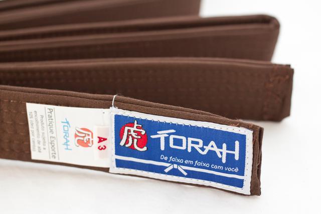 Imagem de Faixa Torah Plus Para Kimonos - Artes Marciais - Adulto A3 Marrom