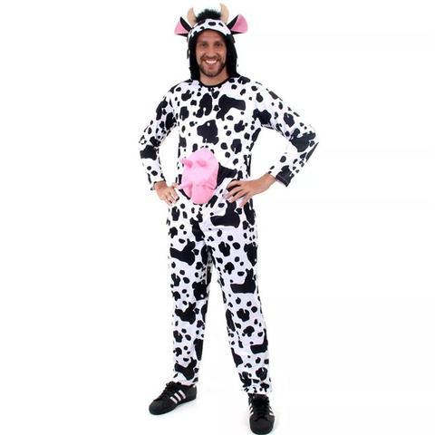 Imagem de Fantasia de Animais da Fazenda Adulto Vaca Com Capuz