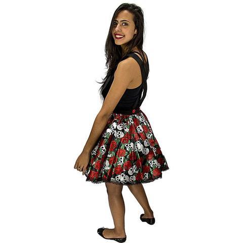 93b81d35d Imagem de Fantasia de Caveira Mexicana Jardineira de Halloween Adulto  Feminino