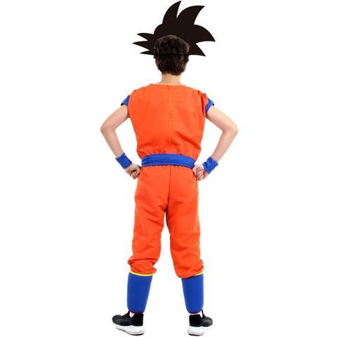 Imagem de Fantasia Goku Infantil Dragon Ball Z Com Peruca