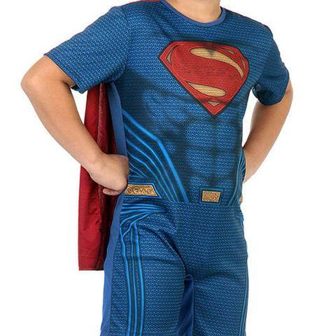 Imagem de Fantasia Infantil - Super Homem Curto Liga da Justiça - Tamanho M (6 a 8 anos) - 10893 - Sulamericana
