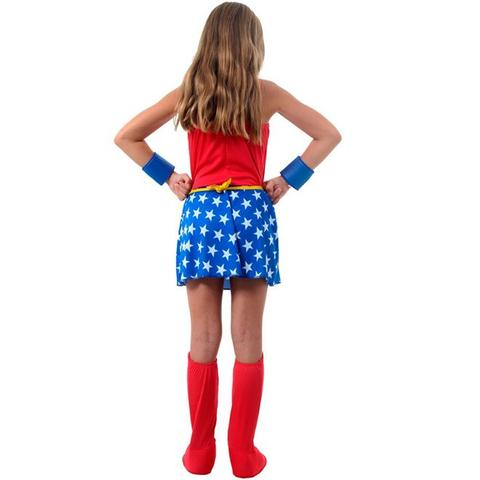 Imagem de Fantasia Mulher Maravilha Infantil Completa Repleta de Acessórios