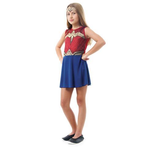Imagem de Fantasia Mulher Maravilha Infantil Original Sulamericana do Filme Batman Vs Superman Liga da Justiça