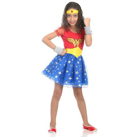 Imagem de Fantasia Mulher Maravilha Infantil Princesa