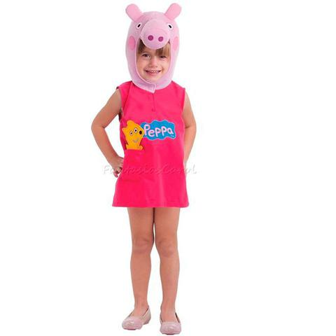 Imagem de Fantasia Peppa Pig Porquinha Infantil Completa Com Gorro