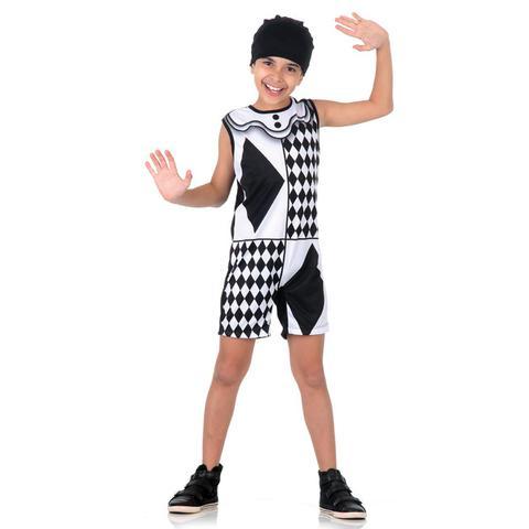 Imagem de Fantasia Pierrot Infantil Super Pop