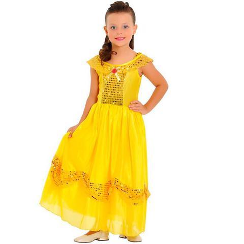 Imagem de Fantasia Princesa Dourada Infantil Sulamericana