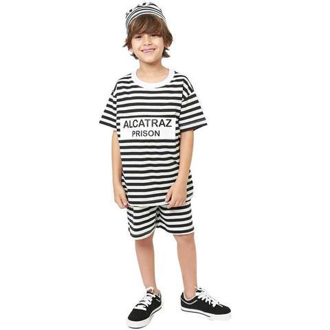 Imagem de Fantasia Prisioneiro de Alcatraz Infantil Com Chapéu