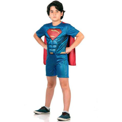 Imagem de Fantasia Super Homem Curto Com Musculatura M 10891 - Sulamericana