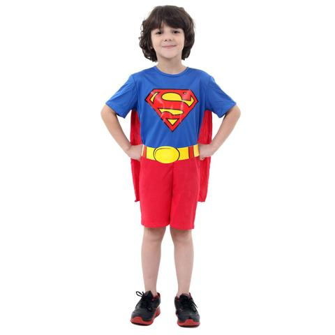 Imagem de Fantasia Super Homem Infantil Curto
