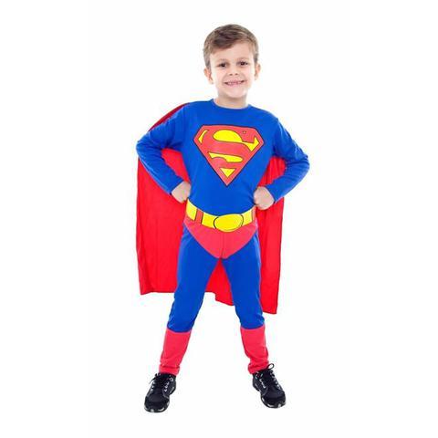 Imagem de Fantasia Super Homem / SuperMan clássico infantil Longa com capa