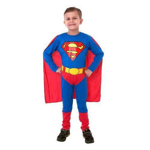 Imagem de Fantasia Super Homem/superman Luxo Classico Sulamericana