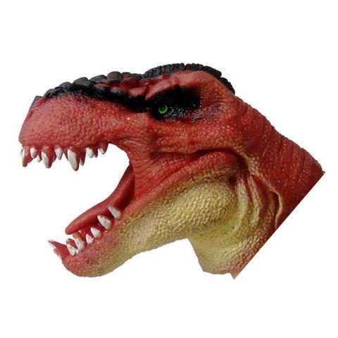 Imagem de Fantoche de Borracha Dinossauro - Vermelho - DTC