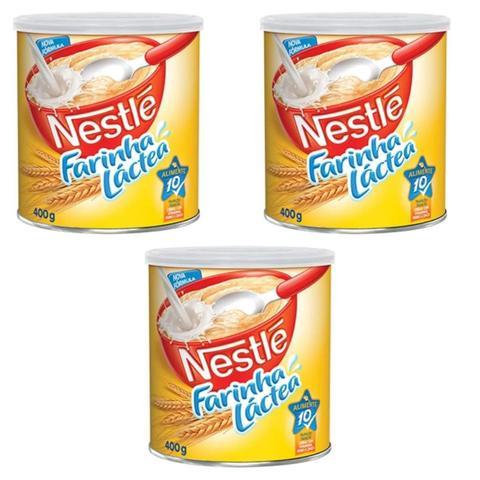 Imagem de Farinha Láctea Tradicional Nestlé 400g - Kit 03 Unidades
