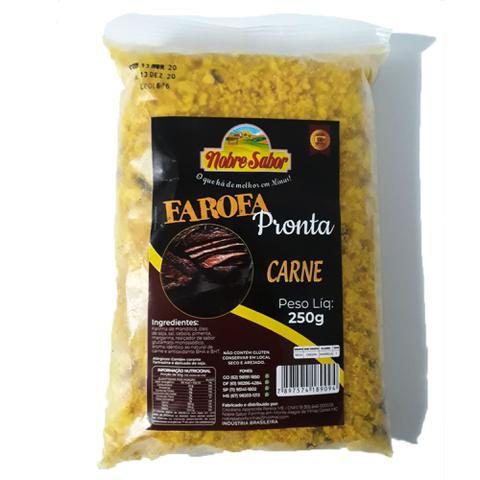 Imagem de Farofa pronta caseira sabor carne  - 3 pacotes com 250g cada.