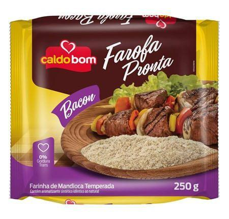 Imagem de Farofa Pronta de Mandioca com Bacon 250g - Caldo Bom