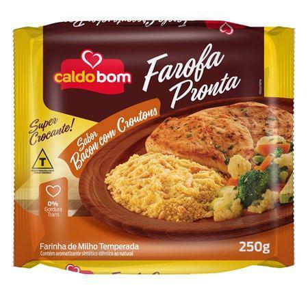 Imagem de Farofa Pronta de Milho com Bacon Crocante 250g - Caldo Bom