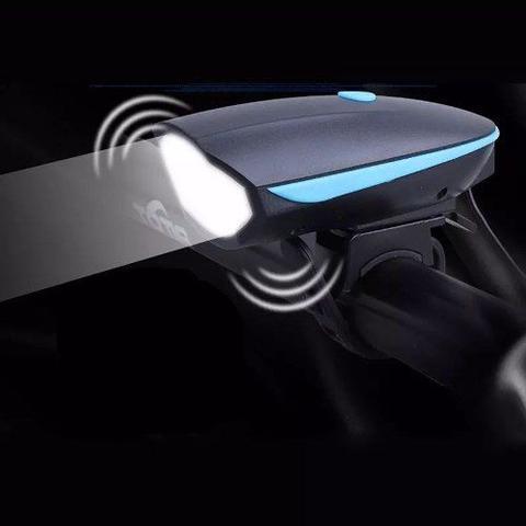 Imagem de Farol Bike Lanterna Bike com Buzina Recarregavel