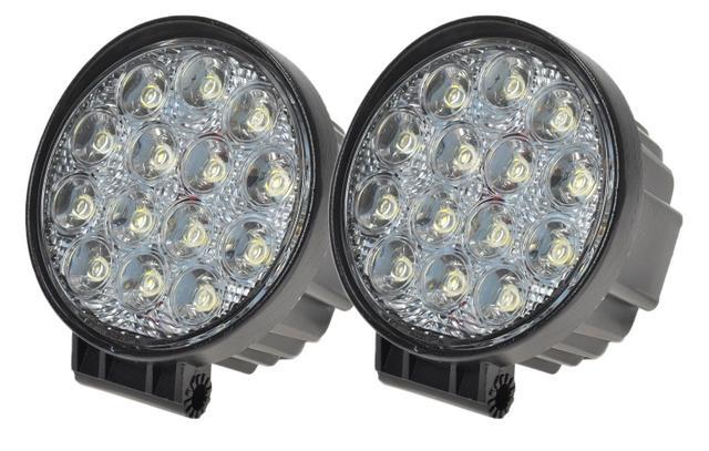 Imagem de Farol de Milha LED 42W com 14 LEDS 12v / 24v ( 11,5 cm ) - O Par