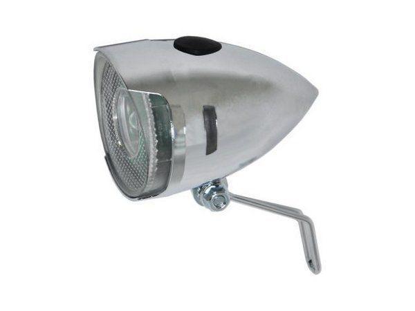 Imagem de Farol Dianteiro Q-Lite LM003 LED Prata Cromado Classic Vintage - Para Paralamas