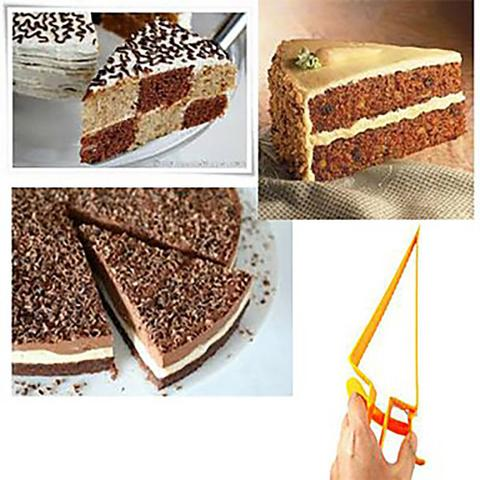Imagem de Fatiador cortador para bolo tortas e doces ajustavel pegador fatia e serve