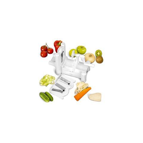 Imagem de Fatiador espiral cortador ralador spiralizer com 3 laminas para fazer macarrao de legumes e vegetais para mesa e bancada