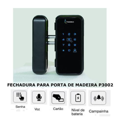 Imagem de Fechadura Digital De Sobrepor P/ Madeira Eletronica P3002 Primebras Com Tag