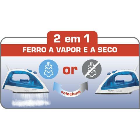 Imagem de Ferro de Passar a Vapor Arno Steam Essential FE20 Azul