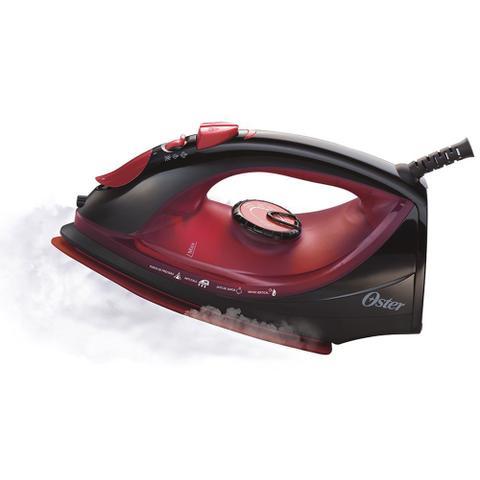 Imagem de Ferro de Passar a Vapor Cerâmica Oster Preto e Vermelho