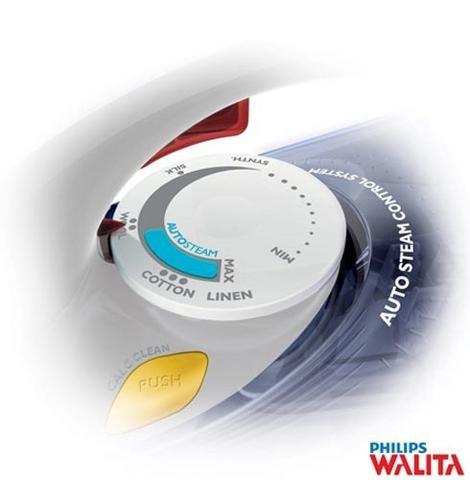 Imagem de Ferro de Passar a Vapor Philips Walita Azul Performer 110v