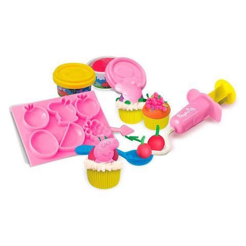 Imagem de Festa do Cupcake da Peppa Pig - Ki-Massa - 3 Potes de Massinha e Moldes - Sunny 1850