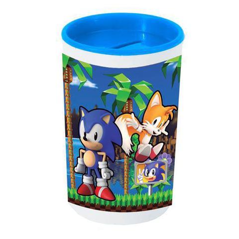 Imagem de Festa Sonic - Cofrinho Porta-moedas com Adesivo Sonic